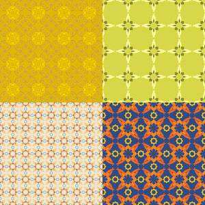 Set Of Abstract Vector Seamless Textures.