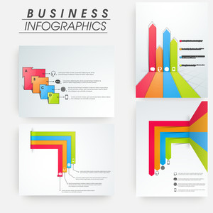 Set of business infographic colorful layout for print