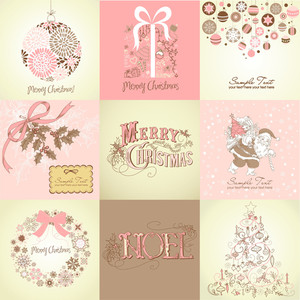 Set Of Christmas Backgrounds
