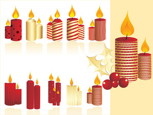 Set Of Christmas Candle