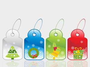 Set Of Christmas Sale Tag