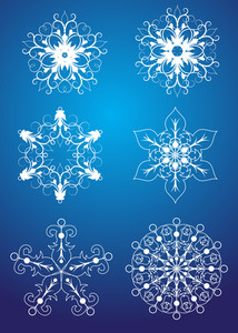 Set Of Christmas Snowflakes