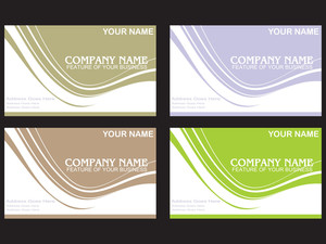 Set Of Colorful Vector Business Labels
