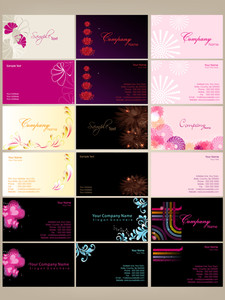 Set Of Colorfull Business Cards.