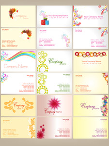 Set Of Colurfull Business Cards .