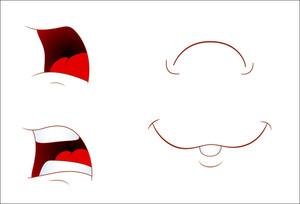 Set Of Comic Mouth Expressions