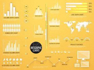 Set of creative Business Infographic elements with statistical bar