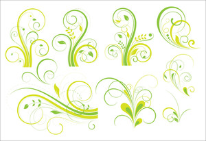 Set Of Decorative Florals