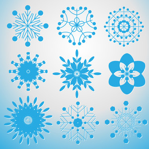 Set Of Decorative Snowflakes