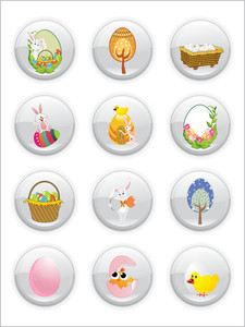 Set Of Easter Icons
