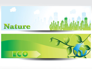 Set Of Evironment Concept Header