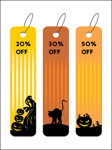 Set Of Four Halloween Tag