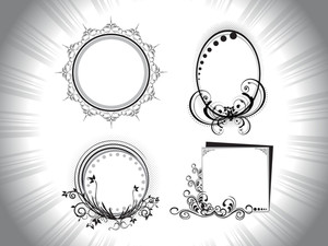 Set Of Frames With Rays Background