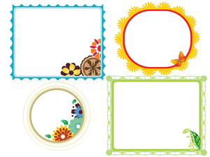Set Of Funny Decorative Frames