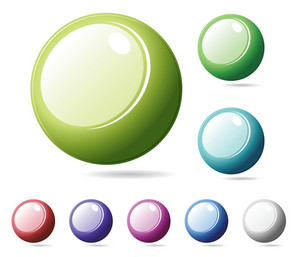 Set Of Glossy Buttons
