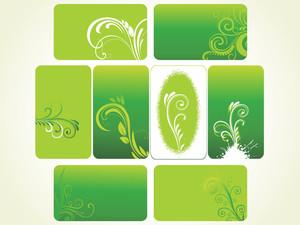 Set Of Green Floral Frames
