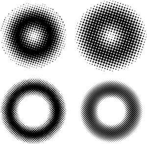 Set Of Halftone Circles