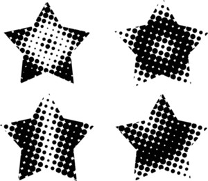 Set Of Halftone Stars