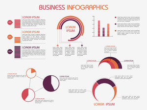 Set of infographics elements for your business and corporate needs.