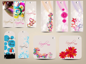 Set Of Multipurpose Colorfull Tags.
