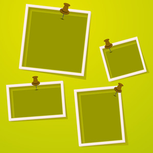 Set Of Photo Frames On Abstract Background