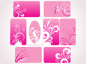 Set Of Pink Floral Frames