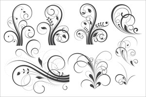 Set Of Retro Flourish Designs