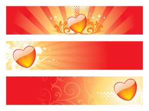 Set Of Romantic Header