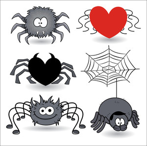 Set Of Spider Cartoons Vector