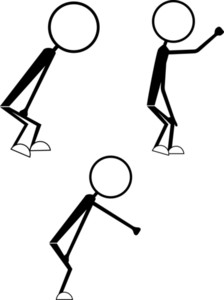 Set Of Stick Figure People Poses