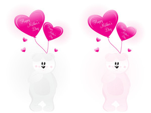 Set Of Tadddy Bear With Balloons