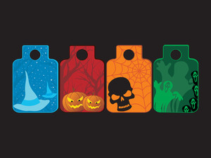 Set Of Three Halloween Tag