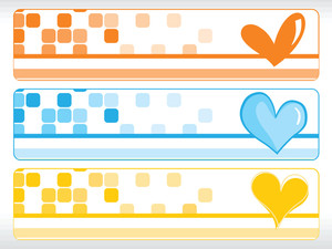 Set Of Valentine Banner