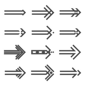 Set Of Various Arrows Sign