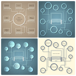 Set Of Vector Creative Web Design Templates