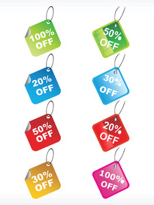 Set Of Vector Discount Tag