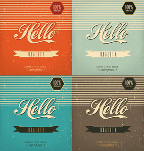 Set Of Vintage Design Templates