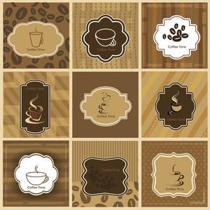 Sets Of Label Design. Menu For Restaurant