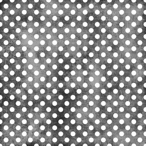 White Polka Dots Pattern On A Shabby Black Background