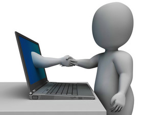 Shaking Hands Through Computer Shows Online Deal