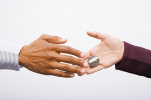 Shaking hands with hand buzzer