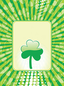 Shamrock Background Greeting Cards 17 March