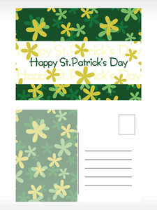 Shamrock Background Postcard
