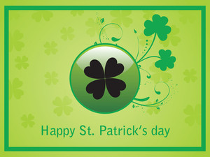 Shamrock Background With Border Design 17 March