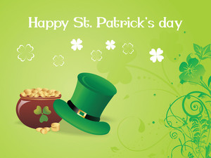 Shamrock Background With Magic Hat