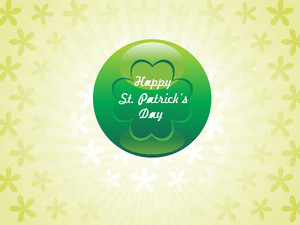 Shamrock Background With Patric Day Ball