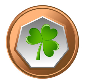 Shamrock Coin Vector