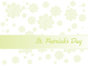 Shamrock Flourish Background