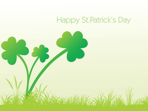 Shamrock Flourishes Background