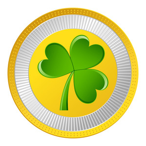 Shamrock Gold Coin